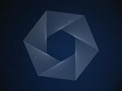 hexagon star graphic design design star