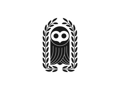 Owl owl tech design graphic logo