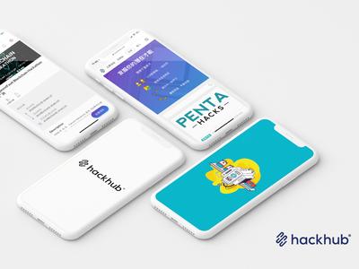 HackHub UIUX webapp app hackhub uiux design