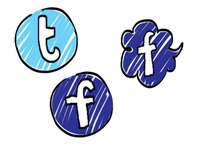 hand drawn social network icons