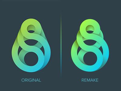Logo Exploration Reconstruction rebound spiral logo gradient circle