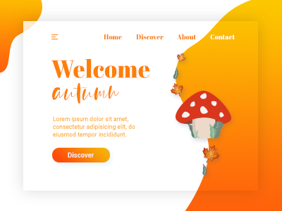 Welcome Seasons #3 welcomeseasons autumn mushroom interface illustration orange 4seasons