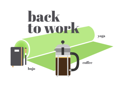Back to work morningmonday morningroutine yoga bulletjournal bujo coffee endofholidays backtoschool backtowork