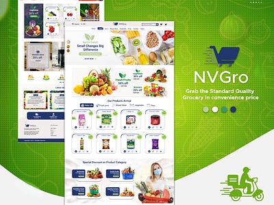 Grocery eCommerce Templates design app ux branding logo ui