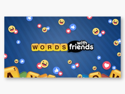 Words With Friends on Messenger zynga words with friends instant game visual design