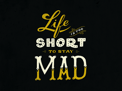 Life is too Short lettering handlettering quote digitize texture scipt