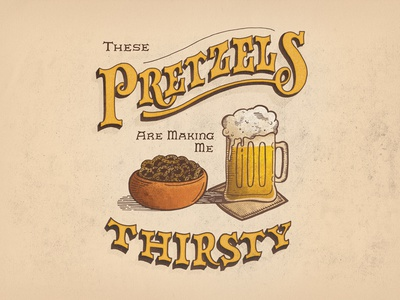 The Alternate Side S03 • E11 beer illustration sitcom comedy type seinfeld lettering handlettering pretzels texture design typography
