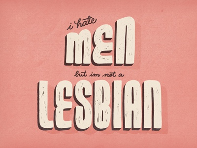 The Subway S03 • E13 seinfeld lettering handlettering shadow texture men lesbian quote sitcom