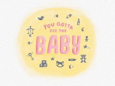 The Boyfriend PT2 S03 • E18 illustration baby sitcom quote texture shadow handlettering lettering seinfeld