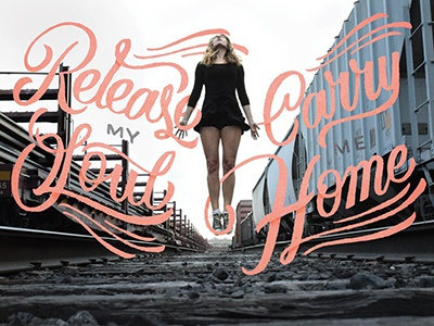 Land of Plenty music lyrics script hand lettering exhibit photography design lettering