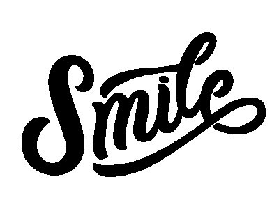 Smile for Inkbox positive smile tattoo temporary tattoo script lettering design