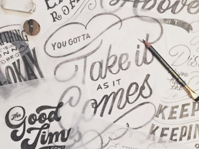 Process Shot project motivation wip process sketches handlettering lettering
