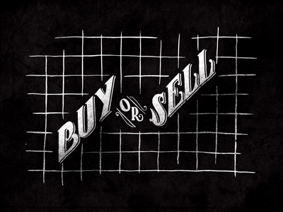 Buy or Sell S01•E05 seinfeld type handlettering texture stock stockmarket vintage lettering hand drawn design