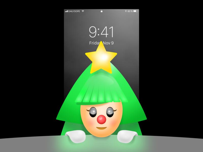 NYRWP | 007 style green tree christmas wallpaper freebie free illustration pure hello
