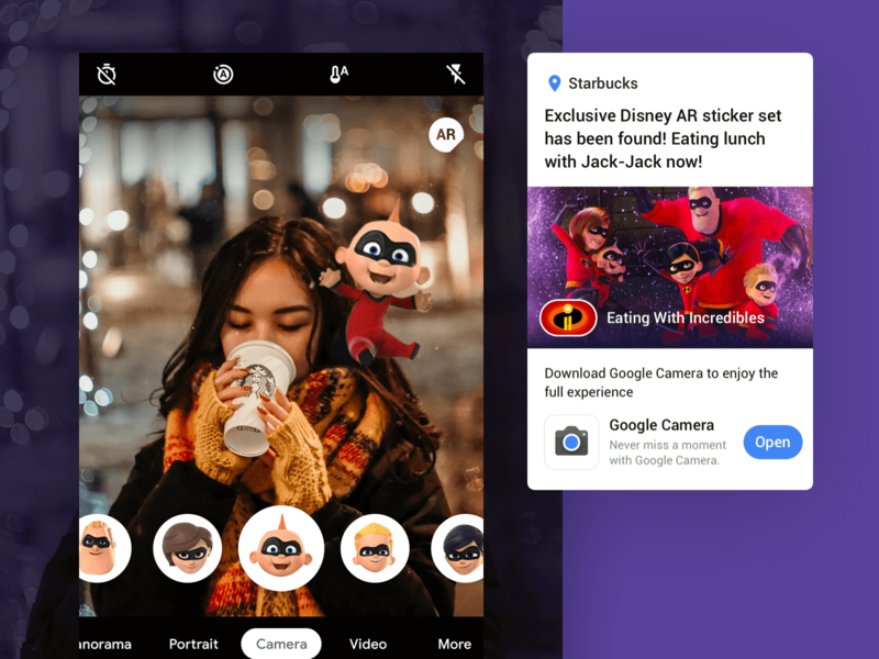 Google Maps | AR Sticker has been Spotted disney the incredibles effect movie augmented reality camera ar map google maps google design google hello