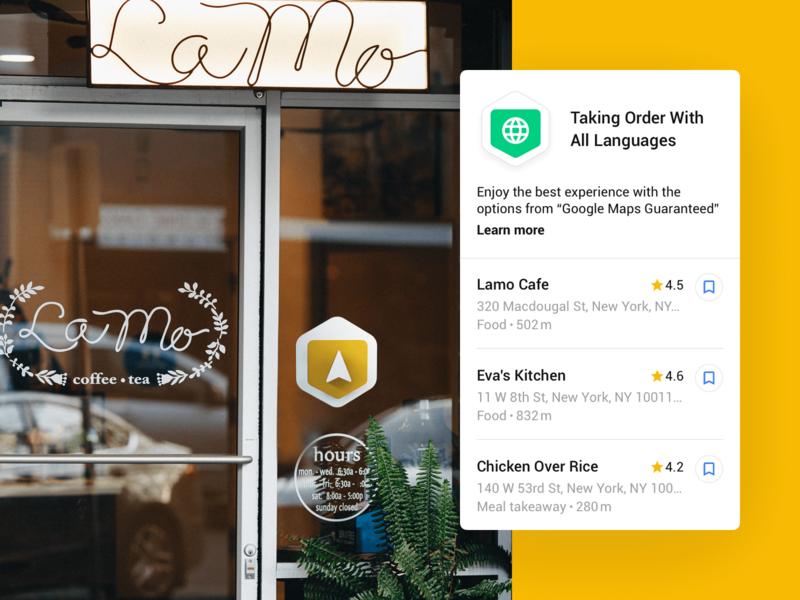 Google Maps | Google Maps Guaranteed travel recommendation design thinking coffeeshop food shop o2o offline online map google maps google design google hello