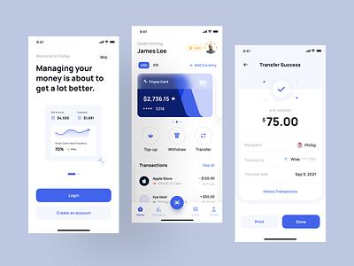 Finpay - Finance App UI Kit ewallet bank transaction money wallet financial fintech finance ios ui8 uikit uxdesign uidesign mobile typography branding design uiux ux ui