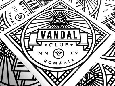 Vandal Stickers romania club illuminati vandal bw lines stickers