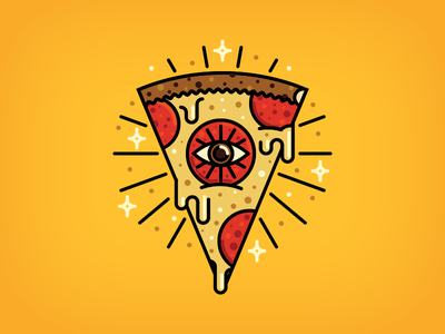 Illuminom-nom slice illuminati vandal club stars cheese pepperoni vandal eye pizza