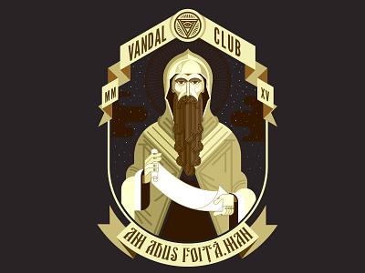 AAFM Variant stoned t-shirt paper beard byzantine cleric vandal saint