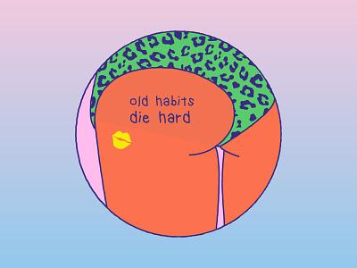 old habits die hard kiss 90s 80s tattoo ass