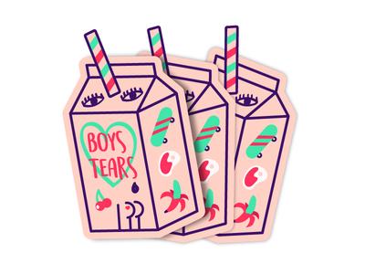 Boys Tears stickers