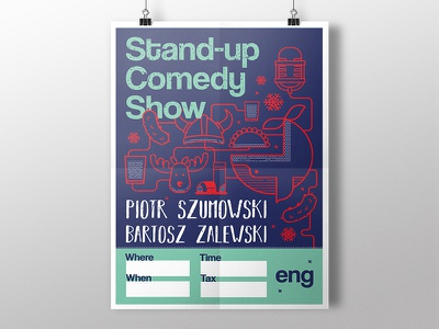 Stand-up Comedy Show Poster mockup design poster