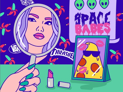 Mirror beauty lips banana babe space ufo date girl tumblr pizza