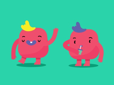 Rejects creature pink faces monster design character