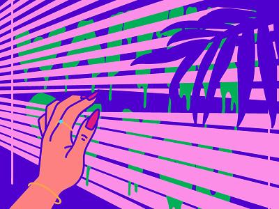 Waiting on you jungle romantic nails hand purple design art waiting window