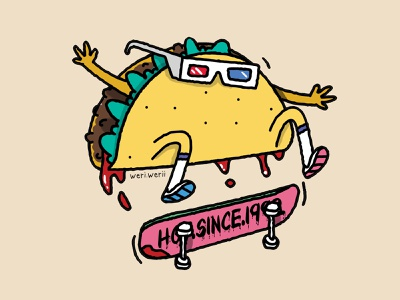 Taco ketchup skateboar skate food taco