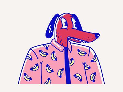 Dawg hotdog ipad procreate illustration dog character design