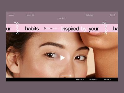 Habit job work designer art director art direction website branding ui poster creative graphic design