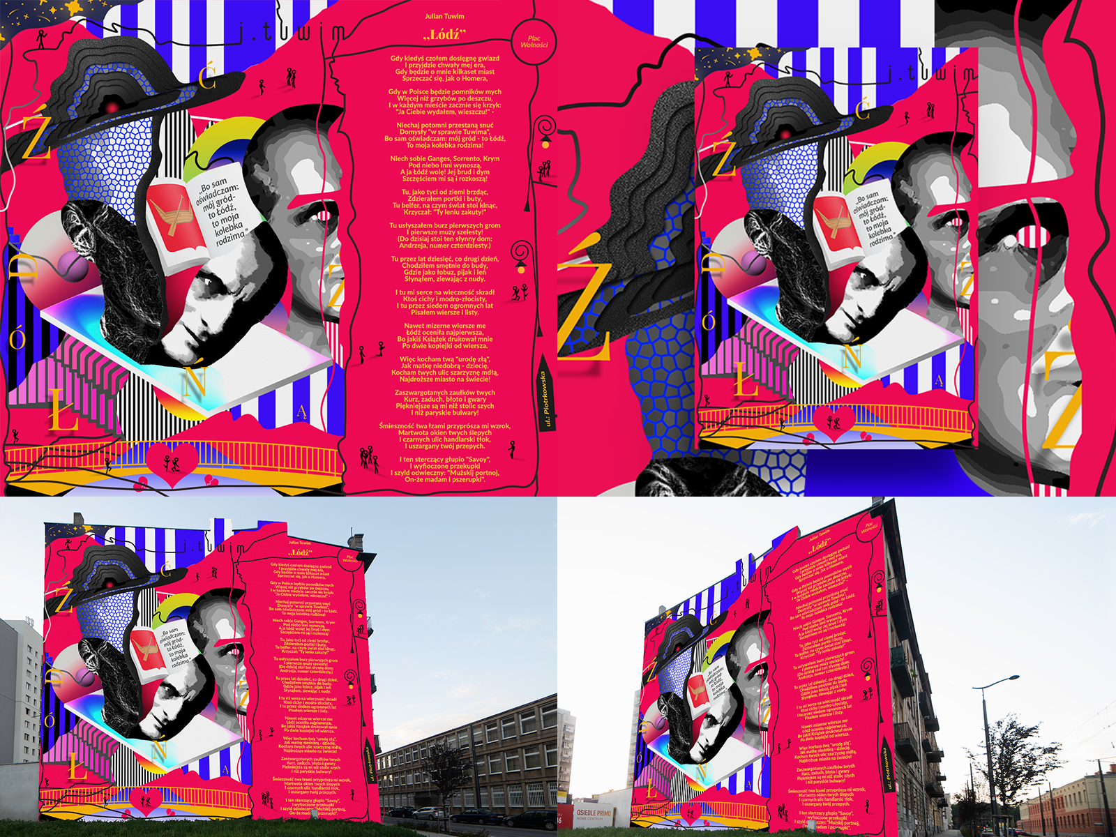 Julian Tuwim Mural Competition Project Search By Muzli