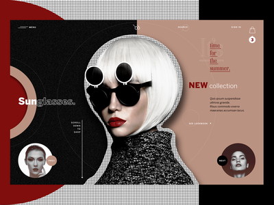 Sunglasses Brand Store. layout webdesign sunglassess glasses web site typography ux website ui artwork creative graphic design