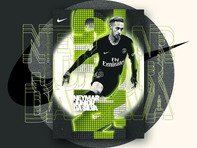 Neymar Da Silva psg artwork football creative illustration graphic poster design