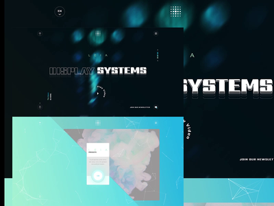 Display Systems. intelligence artificial high technology tech systems display ux website ui artwork creative design