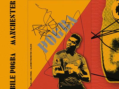Paul Labile Pogba Poster united artwork football manchester pogba
