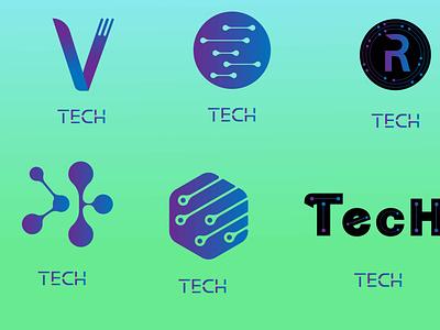 LogoFolio Vol-2 technology logo tech logo logo inspiration logo collection logo folio logo design brand identity branding graphic design