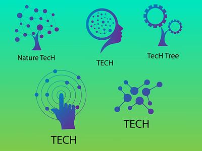 TecH logo vector illustration design branding graphic design brand identity logo inspiration logo collection logo design logo technology logo