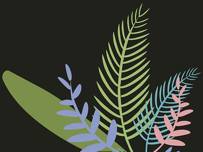 Tropical leaves illustration graphic design