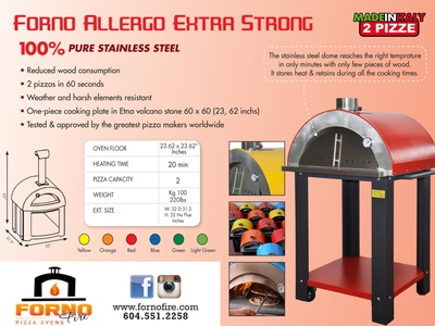 Forno Pizza Over Sell Sheet adobe indesign branding concept design sell sheet