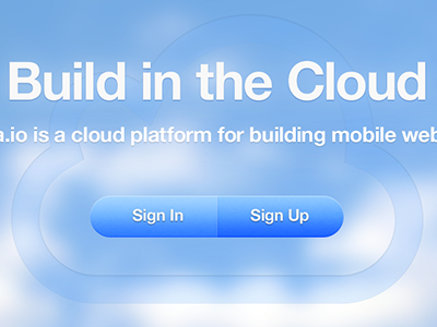 Sencha.io Splash buttons clouds helvetica neue