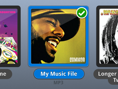 Browsing Album Art reggae hip-hop blue selected list icon ui music
