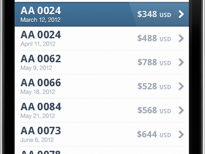Flight Tracker, List flights ticket airplane airline list selected chevron currency