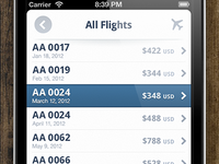Flight Tracker, List