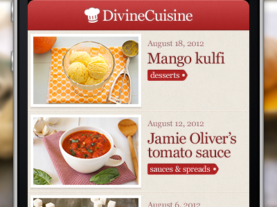 Divine Cuisine, cooking recipe app cooking baking recipes photography tags blog entries