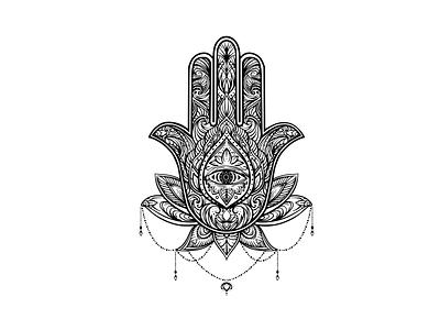 Hamsa Hand Aesthetic Tattoo art design old school tattoo illustration cute tatoo tatoo tattoo designs
