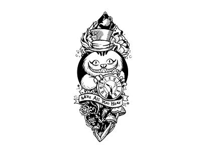 fantasy cat tattoo design tatoo girl tatoo old school tattoo illustration cute tatoo tattoo designs