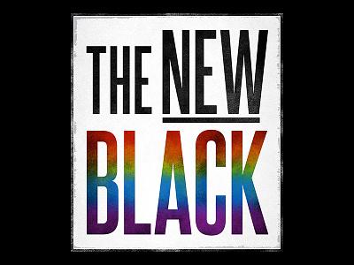 The New Black film typography condensed logo rainbow identity